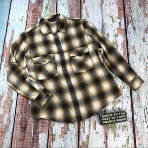 Sanctuary Boyfriend Shirt Plaid Oversized